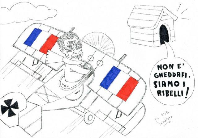 sarkozy in libia di Senatore